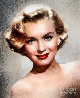 Actors Royalty-Free and Rights-Managed Images - Marilyn Monroe, Vintage Actress by John Springfield