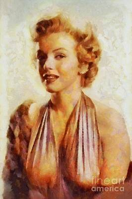 Television Painting - Marilyn Monroe, Vintage Hollywood Actress by Sarah Kirk