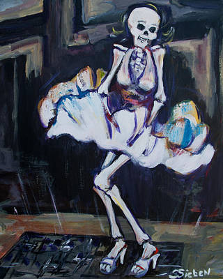 Skeletons Painting - Marilyn by Sharon Sieben