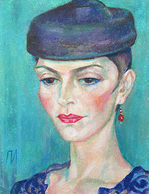 Pastel Painting - Marina Orlova by Leonid Petrushin