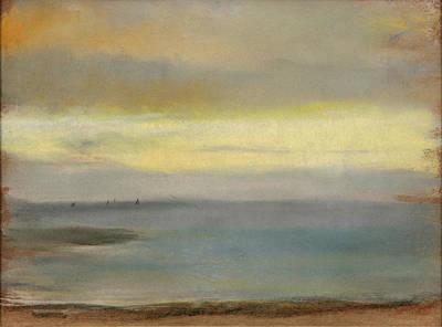 Soleil Couchant Drawing - Marine. Soleil Couchant by Edgar Degas