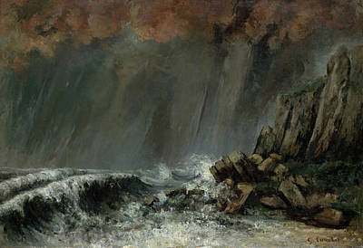 Seascape Painting - Marine, The Waterspout by Gustave Courbet
