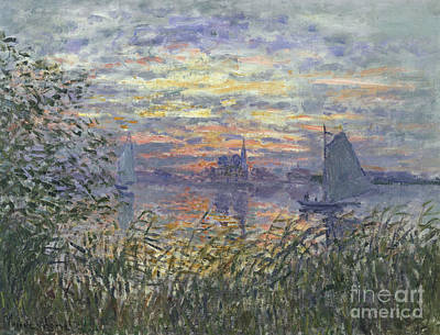 Painting - Marine View With A Sunset by Celestial Images