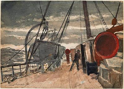 Winslow Homer Drawing - Marine by Winslow Homer