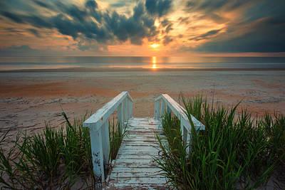 Florida Nature Photograph - Marineland Beach Path by Stefan Mazzola