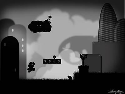 Skyline Digital Art - Mario by Maye Loeser