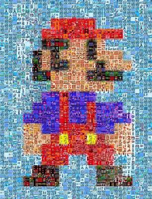 Digital Art - Mario Mosaic by Paul Van Scott