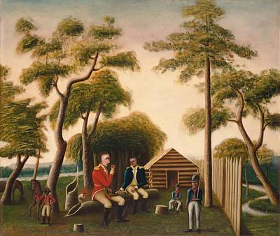 American Revolution Painting - Marion Feasting The British Officer On Sweet Potatoes by Mountain Dreams