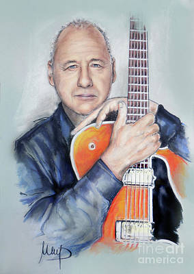 Eric Clapton Painting - Mark Knopfler by Melanie D