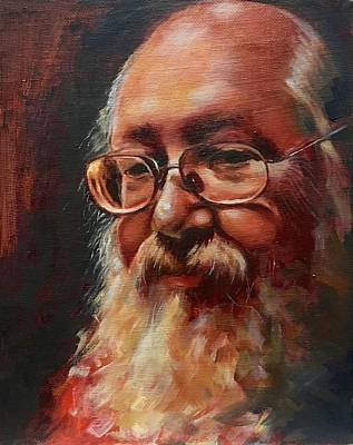 Old Man With Beard Painting - Mark by Shelley Phillips