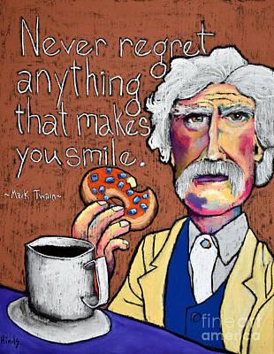 Donuts Drawing - M. Twain  by David Hinds
