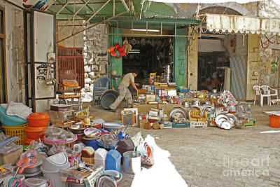 Photograph - Market In Hebron 2 by David Birchall