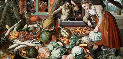 Market Scene Aertsen Painting - Market Scene by Pieter Aertsen