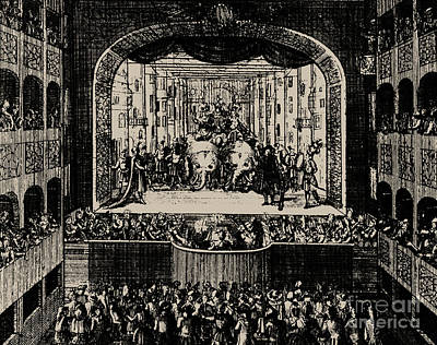 Markgrafentheater In Erlangen, 1721 Art Print