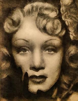 Elvis Presley Painting - Marlene Dietrich by John Springfield
