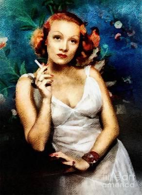 Marlene Dietrich, Vintage Actress Art Print