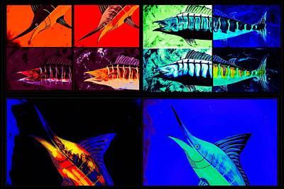 Wall Art - Painting - Marlin And Wahoo  by Barry Knauff