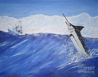 Mixed Media - Marlin On Line by Bill Hubbard