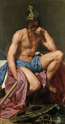 Myths Painting - Mars by Diego Velazquez