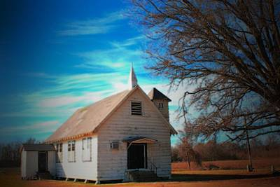 Photograph - Marsh Berea Church by Karen Wagner