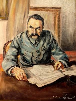 Painting - Marshal Jozef Pilsudski by Luke Karcz