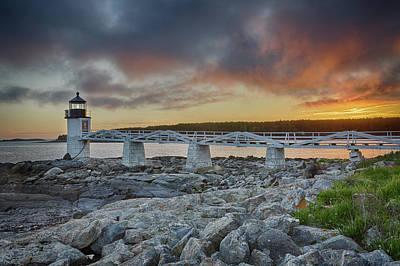 Marshall Point Lighthouse At Sunset, Maine, Usa Art Print