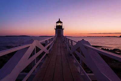 Maine Scene Photograph - Marshall Point Lighthouse by Brenda Tharp