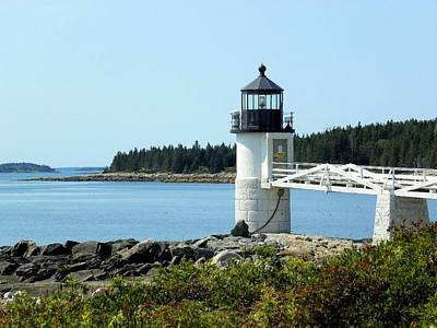 Photograph - Marshall Point Lighthouse by Jewels Blake Hamrick