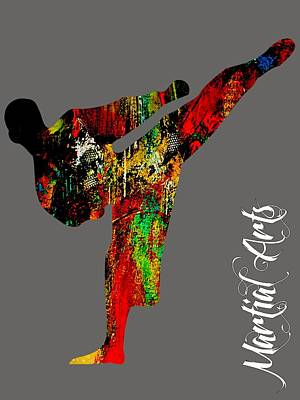 Athletes Mixed Media - Martial Arts Collection by Marvin Blaine