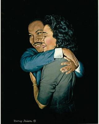 Black History Painting - Martin And Coretta by Henry Frison