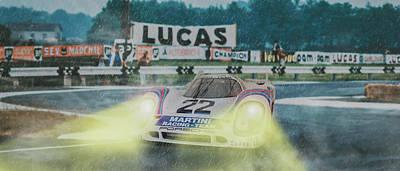 Digital Art - Martini Porsche 917 by Roger Lighterness