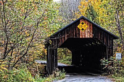 Photograph - Martinsville Covered Bridge by Mike Martin