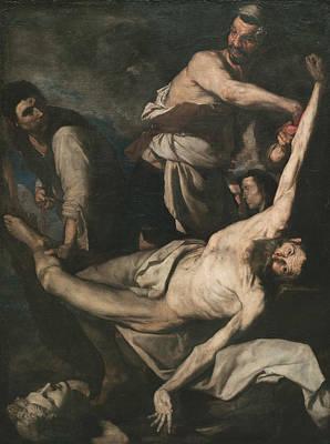 Painting - Martyrdom Of Saint Bartholomew by Jusepe de Ribera
