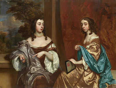 Sister Painting - Mary Capel And Her Sister Elizabeth by Peter Lely