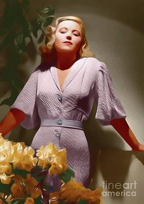 Painting - Mary Carlisle, Vintage Movie Star by John Springfield