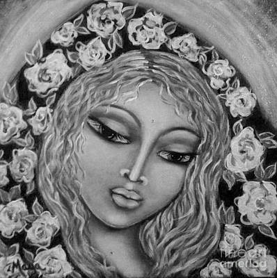 Painting - Mary Mary In Black And White by Maya Telford