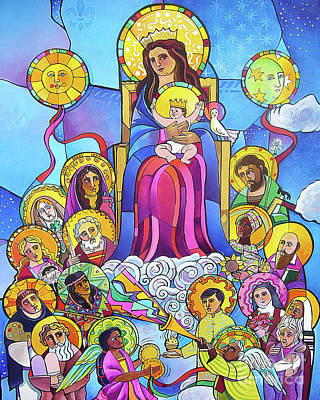 Painting - Mary, Queen Of The Universe - Mmqou by Br Mickey McGrath OSFS