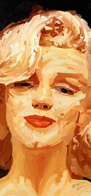 Painting - Marylin Monroe 3 by James Shepherd