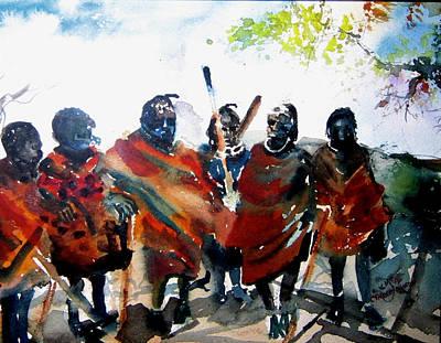 Painting - Masaai Boys by Carole Johnson
