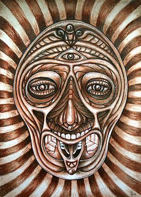 Mask Art Print by Vanni Mangoni