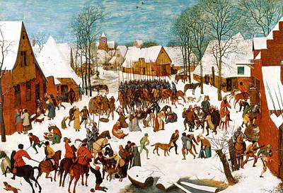 Massacre Of The Innocents Art Print by Pieter Bruegel the Elder