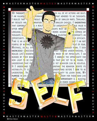 Master Self Art Print by Dion Baker