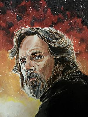 Painting - Master Skywalker by Joel Tesch