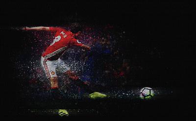 Wayne Rooney Wall Art - Digital Art - Mata by Don Kuing