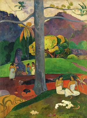Post-impressionist Wall Art - Painting - Mata Mua  by Paul Gauguin