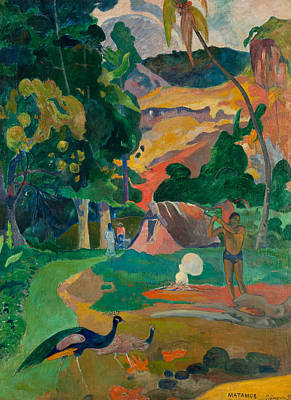 Painting - Matamoe, Landscape With Peacocks by Paul Gauguin