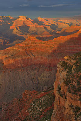 Photograph - Mather Point Sunset by Stephen  Vecchiotti