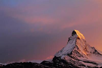 Alps Photograph - Matterhorn At Sunset by Jetson Nguyen