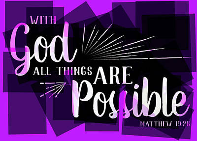 Hisworks Godart 2 Matthew 19 26 The Truth Bible Art Art Print