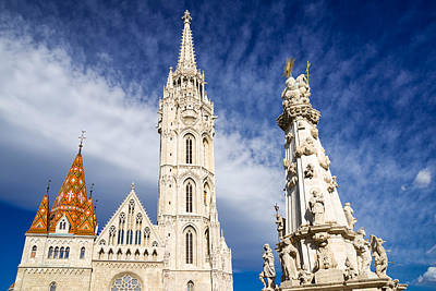 Photograph - Matthias Church And Trinity Column Budapest by Matthias Hauser